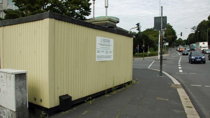 Das Bild zeigt den alter Standort des Messcontainers am Emilienplatz.