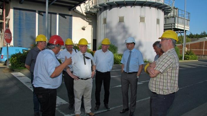 Das Bild zeigt die CDU-Fraktion bei der Besichtigung der MVA Hagen.
