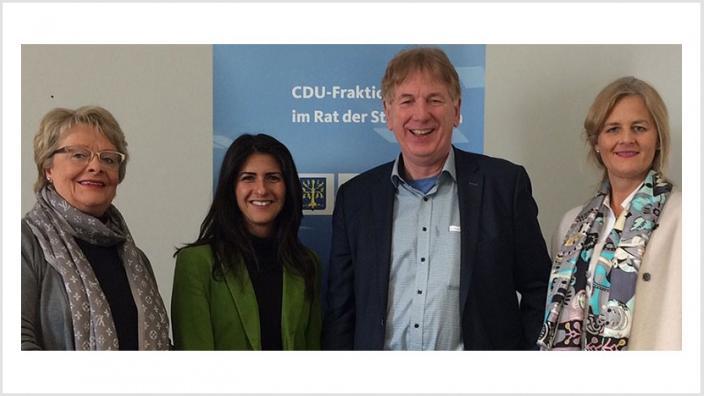 Staatssekretärin Güler informiert sich bei CDU Fraktion